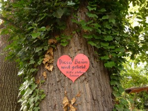 """""""Dieser Baum wird geliebt. Bitte stehen lassen."""""""