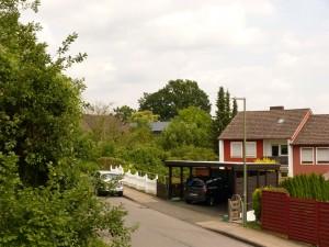 Blick vom Stellwerk in der Naggertstraße
