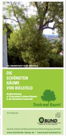 """Faltblatt """"Die schönsten Bäume von Bielefeld"""""""